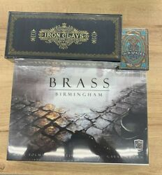 Brass Birmingham With 100ct Iron Clays And Iron Spade Playing Cards Roxley