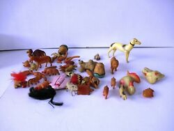 Vintage Celluloid Toys Plastic Toys Jungle Animals Zoo Animals Collectibles 35f