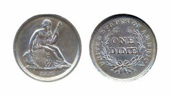 1837 10c-no Stars And Small Date- Cleaned Seated Liberty Dime++