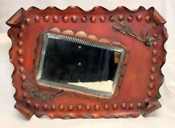 Copper And Sterling Silver Mixed Metal Mirror Arts And Crafts Home Decor L@@k