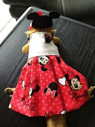 Bearded Dragon Red Minnie Dress and Ears MADE IN USA L M S