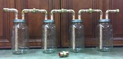 """5-3/4"""" Mason Jar Thumpers, For Wide Mouth 1/2 Gallon Mason Jars, With Fittings"""
