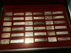 American Weapons Hall Of Fame Commemorative Ingot Series Silver Set 36oz Silver