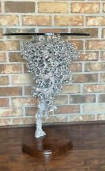 Aluminum Ant Hill Sculpture, Ant Hill Art By Charles Root 24 Side Table