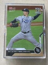 Blake Snell Topps Now 478 World Series Game 6 Tampa Bay Rays