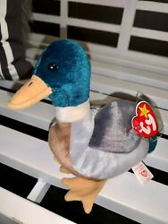 7ty Beanie Baby- Jake The Duck Retired Mint Condition Dob 4-16-97