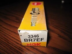 2 Ngk Br7ef Spark Plugs Stock 3346 New