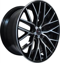 4 G43 22 Inch Staggered Black Rims Fits Mercedes Gl550 2008 - 2018