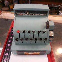 Vintage Green Tom Thumb Cash Register Toy --works Perectly