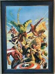 Secret Wars Marvel Limited Edition Giclee On Canvas Signed By Alex Ross 28/100