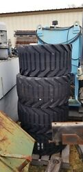 4x Otr Outrigger Equipment Tires On 9 Bolt Rims 33 X 15.50-16.5 Nhs - Never Used