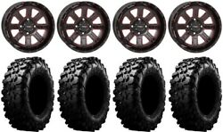 System 3 St-4 14 Wheels Red 30 Carnivore Tires Yamaha Yxz1000r