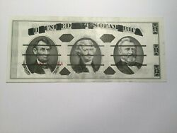 Giori Teat Note Jefferson Center Black Front Green Back Unc Ghost Red Sn