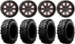 System 3 St-4 14 Wheels Red 30 Carnivore Tires Yamaha Grizzly Rhino