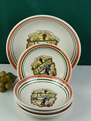 Himark Tre Ci Set Of 5 Bowls - Made In Italy