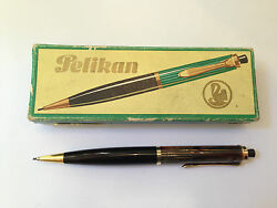 1960and039s Vintage Old Fountain Pencil Pelikan 400 Tortoise Brown /w Case