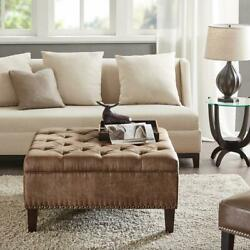 Tufted Square Cocktail Ottoman