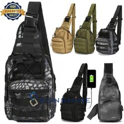 Tactical Sling Molle Shoulder Bag Men Chest Bag Assault Pack Messenger Backpack $16.73