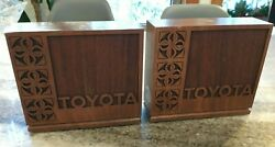 Rare Vintage 1950s Mid Century Modern Mcm Solid Wooden-walnut Toyota Bookends