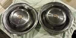 1968 68 1969 69 Cadillac Deville Calais 15 15 Inch Hubcaps Wheelcovers