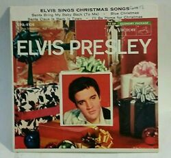 Elvis Presley Sings Christmas Songs Epa-4108rock N Roll Ep 45plays Vg+ To Vg++