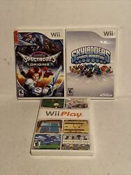 Lot Of 3 Wii Games Spectrobes Play Sky Landers Spyros With Cases And Books