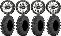 System 3 St-3 Machined 14 Wheels 32 Outback Max Tires Kawasaki Teryx Mule