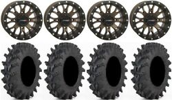 System 3 St-3 Br 14 Wheels 28x9.5 Outback Max Tires Can-am Commander Maverick