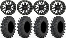 System 3 St-3 Bk 14 Wheels 30x9.5 Outback Max Tires Polaris Rzr Turbo S / Rs1