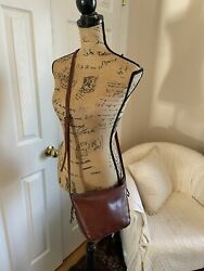 MADEWELL Brown Leather Crossbody Shoulder Bag Purse Zip Stitching $39.99