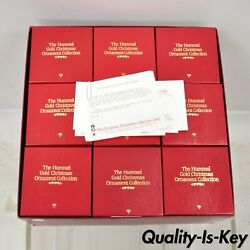The Hummel Gold Christmas Ornament Collection Box Set Of 36 In Box