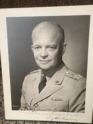 General Of The Army Dwight D. Eisenhower 8x10 Wwii Signed Picture