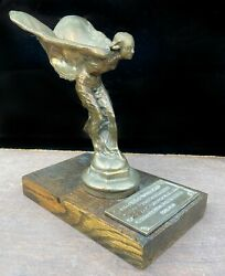 Rolls Royce Vintage Flying Lady Hood Ornament Replica Automobilia Collectible