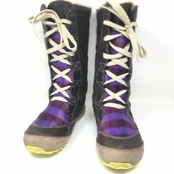 Sorel Womenand039s Mackenzie Lace Up Tall Insulated Snow Winter Boots Sz 6.5 M Brown