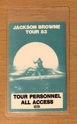 1983 Jackson Browne Lawyers In Love Tour Laminate Concert Staff Backstage Pass