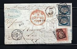 France 1851 - Ceres 1fr And 25c Pair On Cover Letter To New-york 69 Scarce