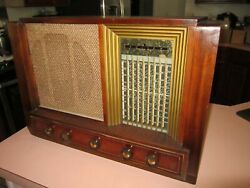 Philco 9 Band Tube Deco Radio, Not Tombstone May Not Be Fully Functional, Parts