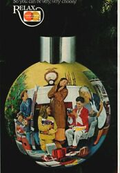 Master Charge Christmas Tree Ornament Relax Credit Card 1976 Vintage Print Ad