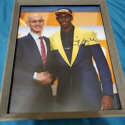 Very Rare Caris Levert In Pacers Hat At Nba Draft Autograph Auto 8x10 Photo Coa