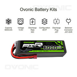 Ovonic 50c 6000mah 4s Lipo Battery 14.8v With T Plug For Rc Car Truck Heli Boat