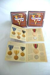 Ww2 50th Anniversary Commemorative Coin And Victory Medal Sets Free Ship