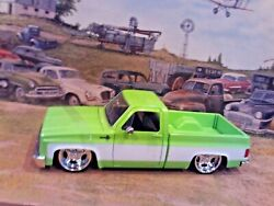 124 Scale Diecast Special Edition,lt. Green And White1985 Chevy C-10 Pickup Truck