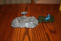 Mpc Army Battlefront Exploding Road And Command Jeep Tank - Marx, Timmee
