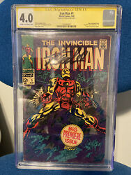 Iron Man 1 May 1968, Marvel Signed By Stan Lee. Cgc 4.0