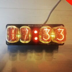 Nixie Clock In-12 Rgb Backlight Assembled /alarm Power From Usb/ Usa Shipping