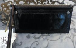 Hobo International KIMI Leather Credit Card Slide Wallet Wristlet BLACK NWT $39.95