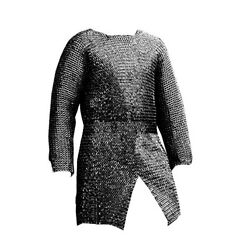 Chainmail Shirt - Xxl-full Sleeve Flat Riveted Medieval Haubergeon Armour