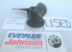 Johnson Evinrude Omc 315084 Propeller 3 Blade 9 X 10 Oem Used Factory Boat Parts