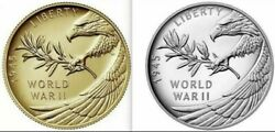 End Of World War Ii 75th Anniversary Silver Medal And 24-karat Gold Mint Coin Set