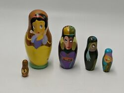 Disney Snow White Nesting Dolls Hand Painted By Jody Daily Le 2500 New In Box